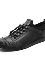 Недорогие -Муж. Кожаные ботинки Наппа Leather Весна Спортивные / На каждый день Кеды Нескользкий Белый / Черный / Серебряный