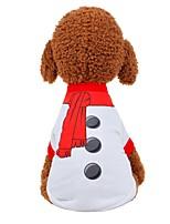 baratos -Cachorros / Gatos Colete Roupas para Cães Sólido Branco / Vermelho Tecido Ocasiões Especiais Para animais de estimação Unisexo Festa / Noite / Estilo Romântico