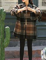 Недорогие -женская льняная рубашка - цветная рубашка с воротником