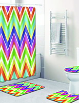 baratos -1conjunto Modern Tapetes Anti-Derrapantes Poliéster Elástico Tricotado 100g / m2 Criativo Retângular Banheiro Fofo