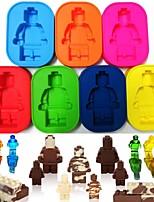 baratos -as pessoas do robô do silicone figuram o fabricante do bolo de chocolate do molde do gelo do homem do tijolo do brinquedo