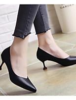 Недорогие -Жен. Комфортная обувь Полиуретан Осень Обувь на каблуках На шпильке Черный / Бежевый