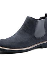 Недорогие -Муж. Комфортная обувь Кожа Зима На каждый день / Английский Кеды Сохраняет тепло Ботинки Черный / Серый / Синий