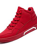 Недорогие -Муж. Комфортная обувь Полиуретан Осень Спортивные Кеды Нескользкий Черный / Серый / Красный