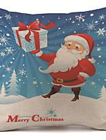 Недорогие -Наволочки Новогодняя тематика Хлопок Квадратный Оригинальные Рождественские украшения