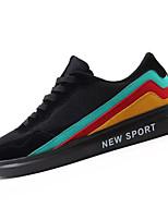 Недорогие -Муж. Комфортная обувь Сетка / Полиуретан Осень На каждый день Кеды Нескользкий Контрастных цветов Черный / Серый