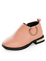 Недорогие -Девочки Обувь Полиуретан Наступила зима Удобная обувь / Модная обувь Ботинки для Дети / Для подростков Черный / Розовый
