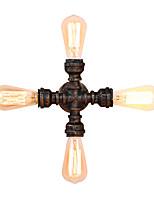 baratos -Estilo industrial do vintage arandela de metal sala de estar sala de jantar sala de jogos e bar 4 luz da tubulação de água lâmpada de parede pintado acabamento