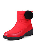 Недорогие -Жен. Fashion Boots Полиуретан / Синтетика Зима Ботинки На толстом каблуке Круглый носок Ботинки Белый / Черный / Красный / Для вечеринки / ужина