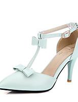 abordables -Femme Escarpins Polyuréthane Printemps Chaussures à Talons Talon Aiguille Blanc / Bleu / Rose