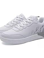 Недорогие -Муж. Комфортная обувь Полиуретан Осень Кеды Белый / Серый / Синий