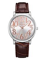 Недорогие -Жен. Наручные часы Кварцевый Новый дизайн Повседневные часы Крупный циферблат PU Группа Аналоговый На каждый день Мода Черный / Белый / Синий - Зеленый Синий Розовый Один год Срок службы батареи