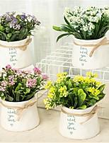 Недорогие -Искусственные Цветы 1 Филиал Классический / Односпальный комплект (Ш 150 x Д 200 см) Простой стиль / Modern Ваза Букеты на стол