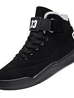 Недорогие -Муж. Комфортная обувь Хлопок Зима На каждый день Кеды Сохраняет тепло Черный / Черно-белый / Черный / Красный