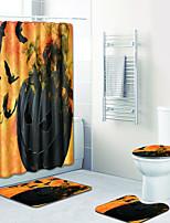 Недорогие -1 комплект Мультяшная тематика Коврики для ванны 100 г / м2 полиэфирный стреч-трикотаж Новинки Прямоугольная Ванная комната обожаемый