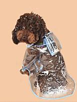baratos -Cachorros / Gatos Capa de Chuva Roupas para Cães Estampa Colorida / Simples Branco / Fúcsia / Azul PVC Ocasiões Especiais Para animais de estimação Unisexo Comum / Prova-de-Água