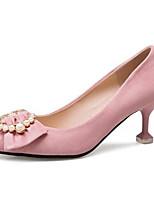 abordables -Femme Chaussures de confort Microfibre Printemps Chaussures à Talons Talon Aiguille Noir / Marron / Rose