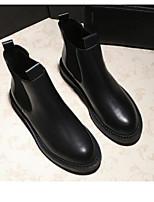 Недорогие -Жен. Комфортная обувь Полиуретан Наступила зима Ботинки На толстом каблуке Ботинки Черный
