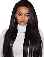 Недорогие -Remy 360 Лобовой Парик Бразильские волосы Прямой Парик 150% Плотность волос с детскими волосами Шелковистость Природные волосы Нейтральный Светло-коричневый Жен. Длинные / Для темнокожих женщин