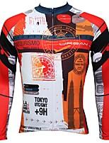 Недорогие -ILPALADINO Муж. Длинный рукав Велокофты - Оранжевый Мода Велоспорт Верхняя часть Зима, Эластан
