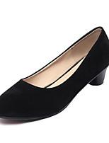 Недорогие -Жен. Комфортная обувь Замша Весна Обувь на каблуках На шпильке Белый / Черный / Красный
