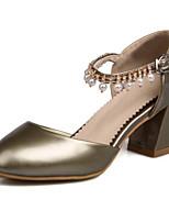 Недорогие -Жен. Комфортная обувь Полиуретан Весна Обувь на каблуках На толстом каблуке Золотой / Розовый / Миндальный