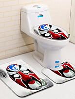 Недорогие -3 предмета Modern Коврики для ванны 100 г / м2 полиэфирный стреч-трикотаж Геометрический принт нерегулярный Ванная комната
