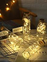 Недорогие -2м Гирлянды 20 светодиоды Тёплый белый Декоративная Аккумуляторы AA 1 комплект