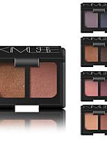 Недорогие -2 цвета Тени Косметика / Тени для век прочный Повседневный макияж / Макияж на Хэллоуин / Макияж для вечеринки Составить косметический