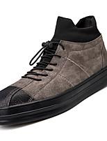 Недорогие -Муж. Комфортная обувь Полиуретан Осень На каждый день Кеды Нескользкий Черный / Серый