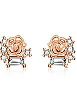 abordables -Femme Or Or Gemme Classique Boucles d'oreille goujon - Cœur Coréen Or / Blanc / Or Rose Pour Vacances Sortie