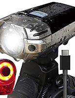 Недорогие -Передняя фара для велосипеда Светодиодная лампа Велосипедные фары Велоспорт Водонепроницаемый, Портативные, Простота транспортировки Перезаряжаемая батарея 1000 lm Перезаряжаемый Натуральный белый