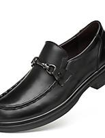 Недорогие -Муж. Официальная обувь Наппа Leather Осень Классика Мокасины и Свитер Массаж Черный