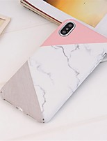 baratos -Capinha Para Apple iPhone XR / iPhone XS Max Estampada Capa traseira Mármore Rígida PC para iPhone XS / iPhone XR / iPhone XS Max