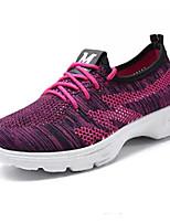 baratos -Mulheres Sapatos Confortáveis Com Transparência Primavera & Outono Tênis Salto Baixo Cinzento / Roxo / Preto / Vermelho