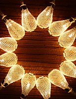 abordables -1.2m Guirlandes Lumineuses 10 LED Blanc Chaud Décorative Piles AA alimentées 1 set