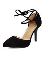 Недорогие -Жен. Комфортная обувь Замша Весна Обувь на каблуках На шпильке Черный / Желтый / Красный