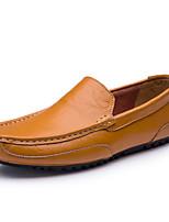 Недорогие -Муж. Обувь для вождения Наппа Leather Осень / Весна лето На каждый день Мокасины и Свитер Для прогулок Дышащий Черный / Желтый / Синий