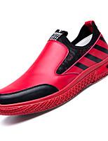 abordables -Homme Chaussures de confort Polyuréthane Automne Décontracté Mocassins et Chaussons+D6148 Ne glisse pas Blanc / Noir / Rouge