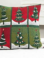 baratos -Cobertura de Almofada Árvore de Natal Algodão Quadrada Novidades Decoração de Natal