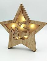 Недорогие -Рождество Праздник деревянный деревянный Рождественские украшения
