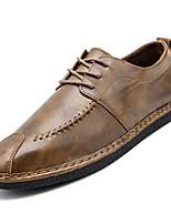 Недорогие -Муж. Комфортная обувь Полиуретан Осень На каждый день Туфли на шнуровке Нескользкий Черный / Коричневый / Хаки