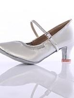 billiga -Dam Moderna skor Imitationsläder Högklackade Tvinning Kubansk klack Går att specialbeställas Dansskor Silver