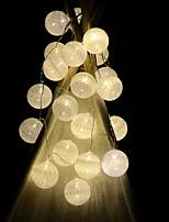 Недорогие -2X0.5M Гирлянды 20 светодиоды Тёплый белый Декоративная Аккумуляторы AA 1 комплект