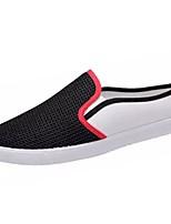 Недорогие -Муж. Комфортная обувь Полиуретан Осень Кеды Черный / Бежевый / Синий