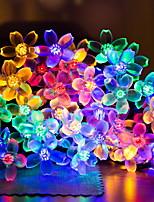 billiga -6m Ljusslingor 30 lysdioder Varmvit / Vit Dekorativ Soldriven 1set