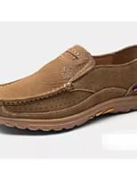 Недорогие -Муж. Комфортная обувь Наппа Leather Наступила зима Мокасины и Свитер Коричневый / Хаки