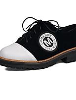 Недорогие -Жен. Комфортная обувь Полиуретан Лето На плокой подошве Блочная пятка Черный / Военно-зеленный / Красный