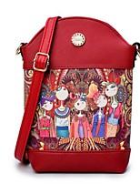 Недорогие -Жен. Мешки PU Мобильный телефон сумка Молнии Зеленый / Красный / Лиловый
