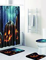 Недорогие -3 предмета Modern Коврики для ванны 100 г / м2 полиэфирный стреч-трикотаж Новинки Прямоугольная Ванная комната обожаемый